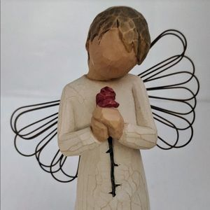 Willow tree Loving Angel figurine with red rose🌹
